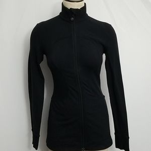 Vintage Lululemon Full Zip Jacket Size 6 Black